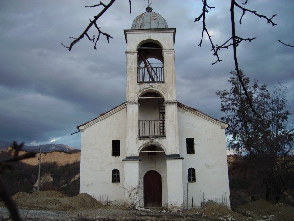 A spooky old church in the mountains near Bansko