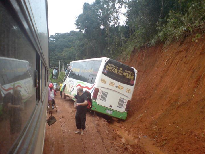 Stranded bus, Luang Nam Tha