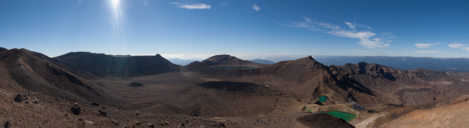 Tongariro Crossing in summer