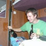 Drinking beer on the Trans-Siberian
