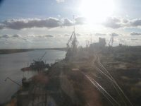 Factories seen from the Trans-Siberian