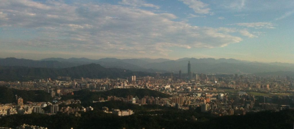 View of Taipei from Bishan temple