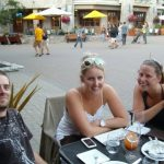 Hanging out in Whistler village