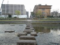 Stepping stones over the Kamo river