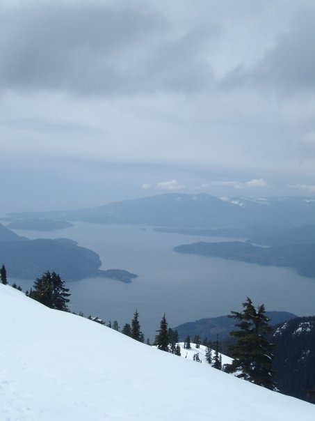 Looking down into Howe Sound from Cypress
