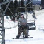 Cypress snow park in spring