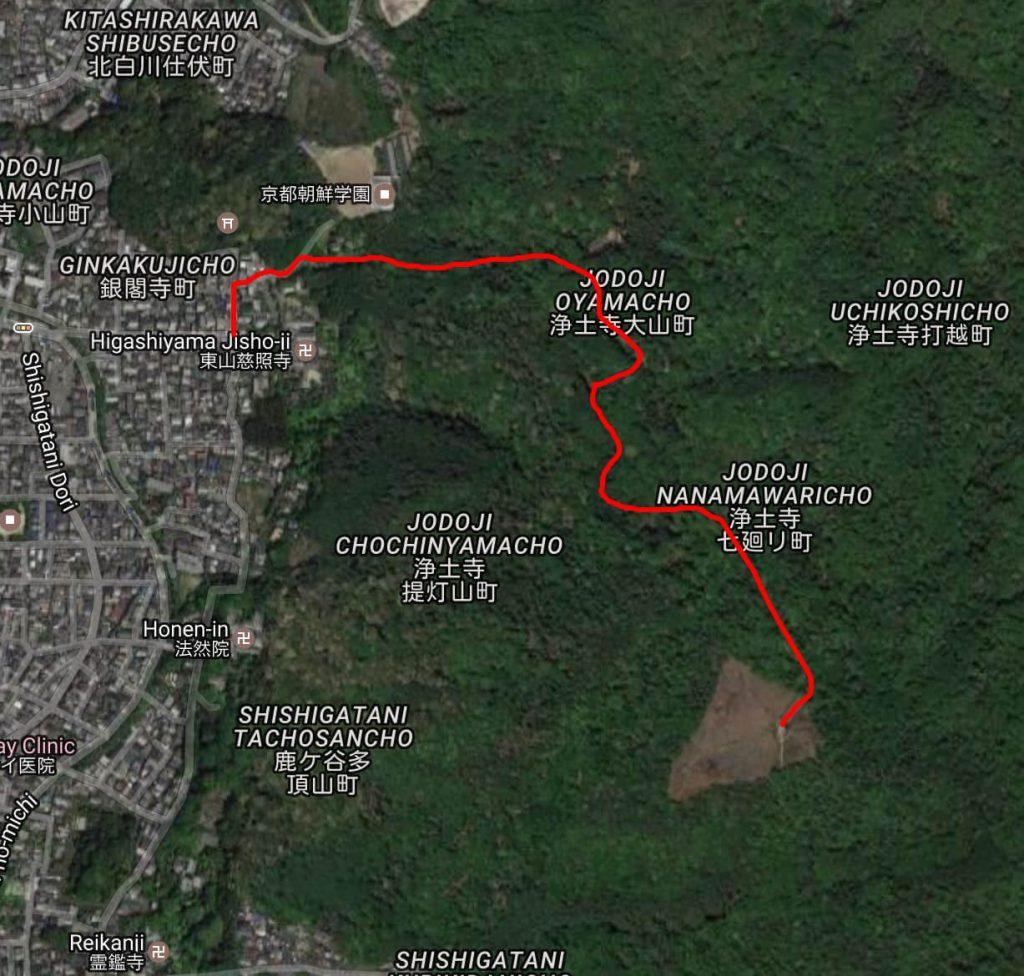 Daimonjiyama hike map