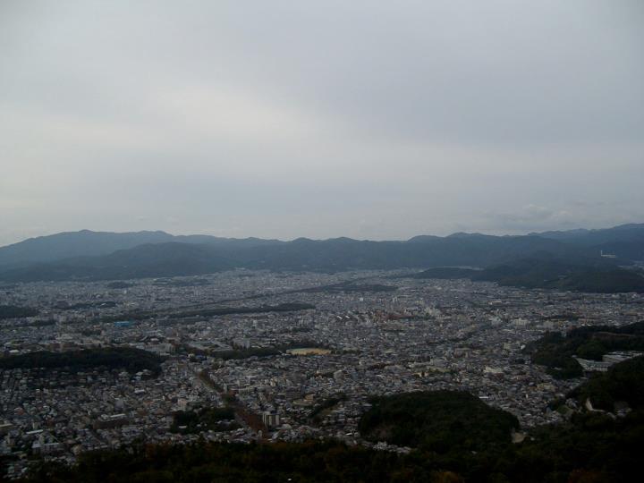 View over north Kyoto from Daimonjiyama