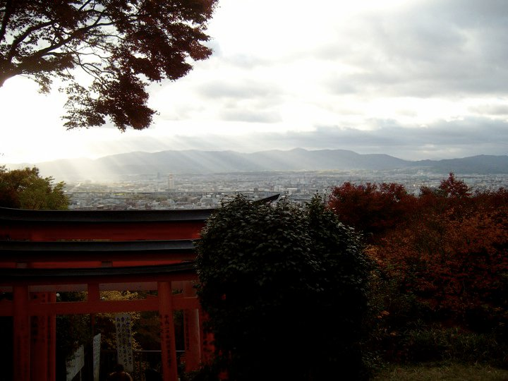 View of Kyoto from Fushimi Inari