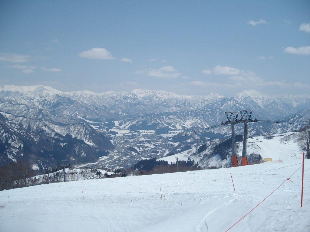 The view of Yuzawa from Gala Yuzawa ski resort