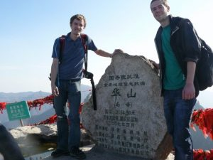 At the summit of Hua Shan