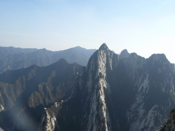 Dramatic scenery while climbing Huashan