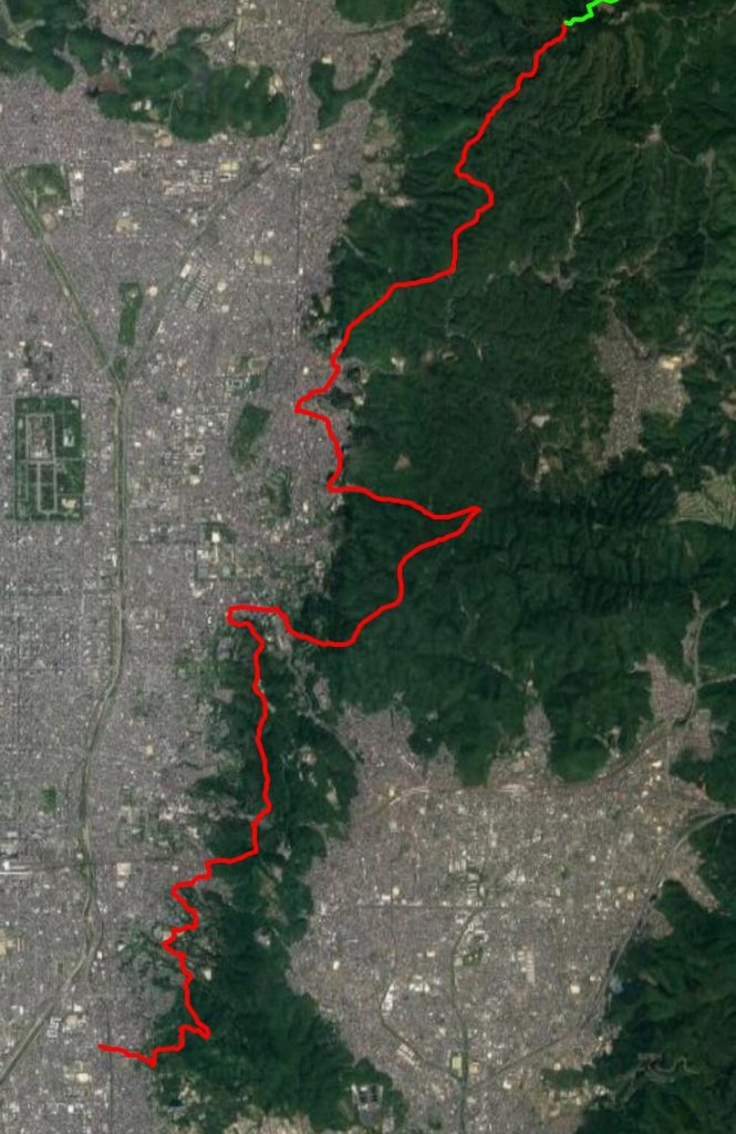 Isshu Trail Higashiyama map satellite view