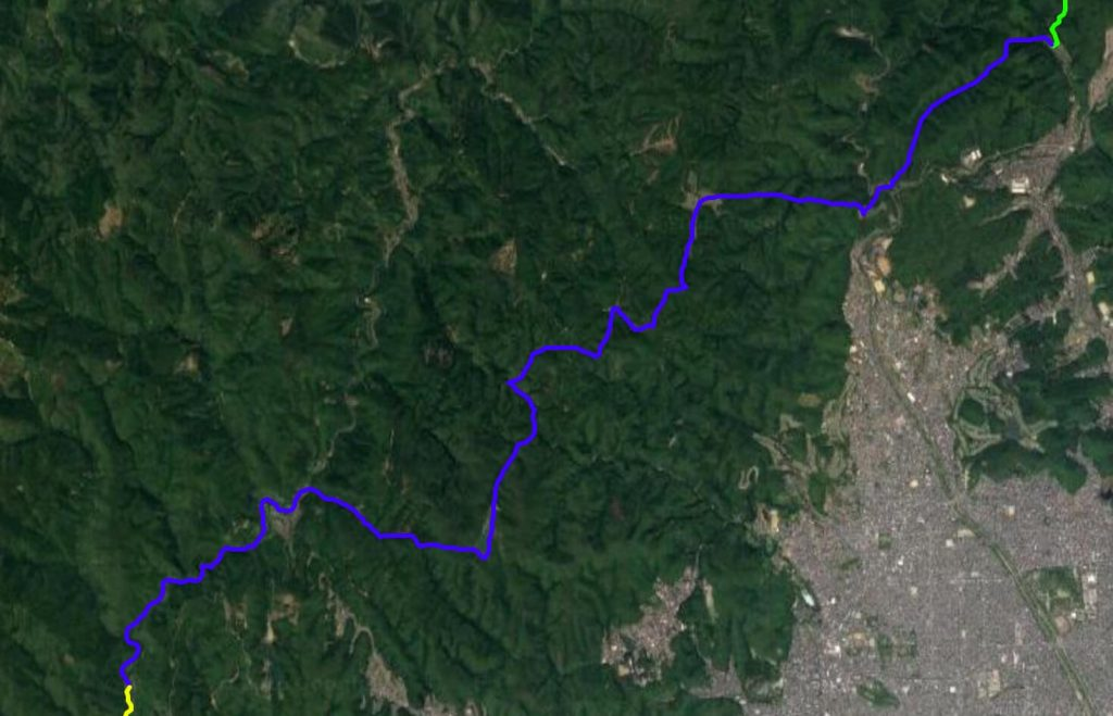 Isshu Trail Kitayama Nishibu map satellite view