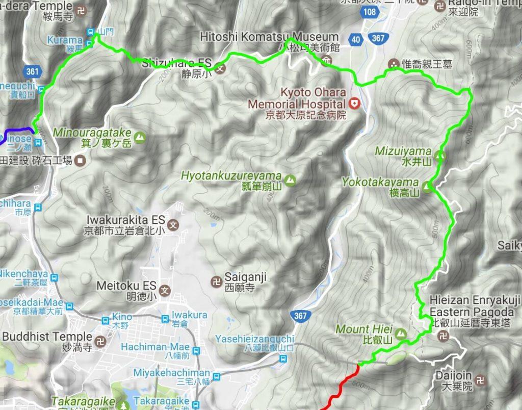 Isshu Trail Kitayama Toubu map