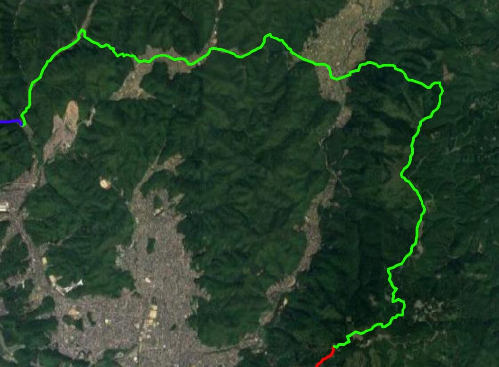 Isshu Trail Kitayama Toubu map satellite view