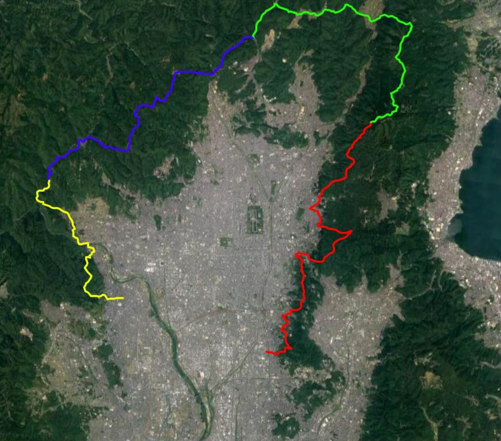 Isshu Trail map close satellite view