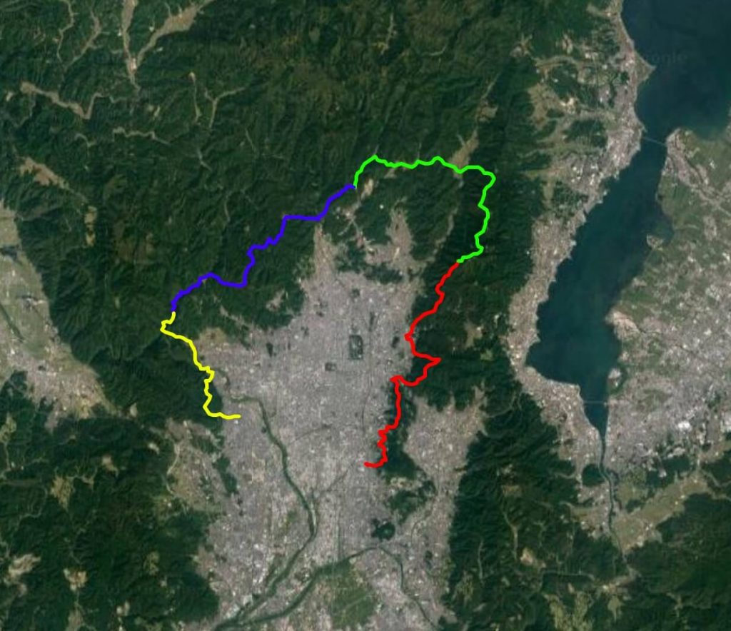 Kyoto Isshu Trail map satellite view