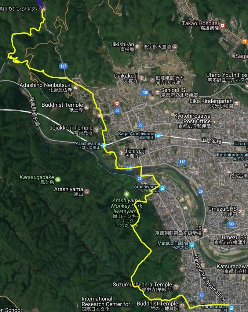 Isshu Trail Nishiyama map