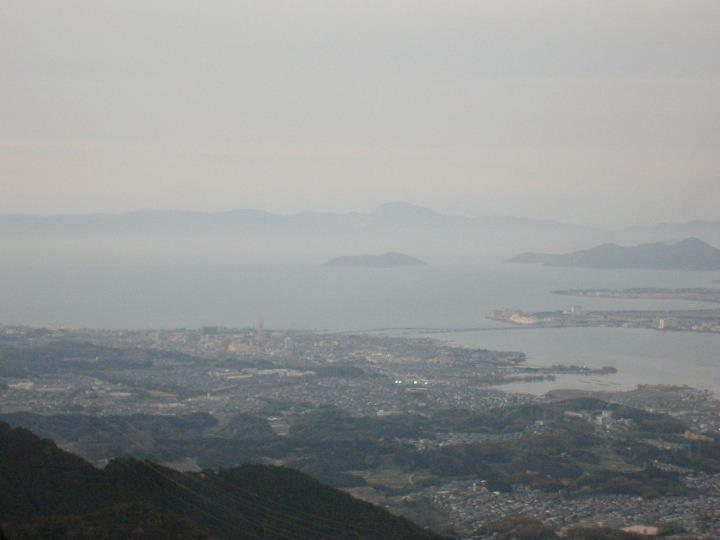 View of Lake Biwa from nearby Mt Hiei