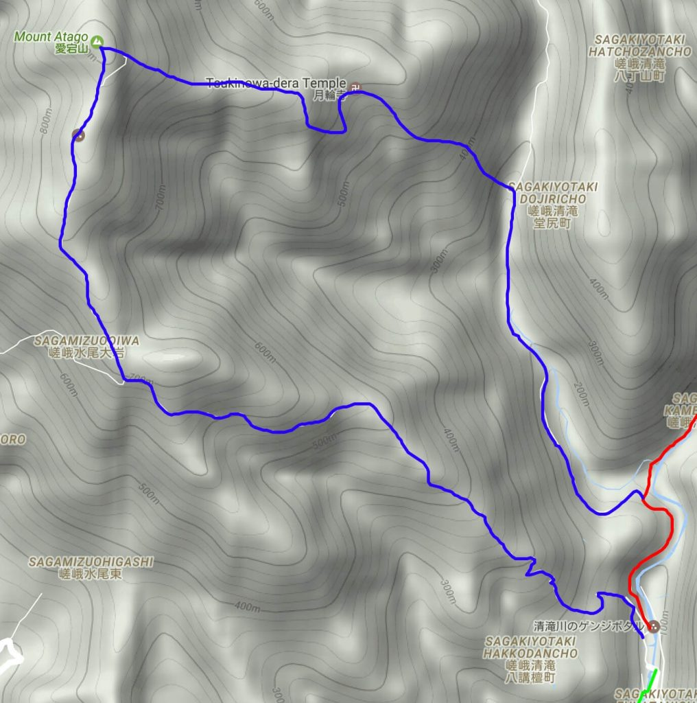 Mt Atago trail map