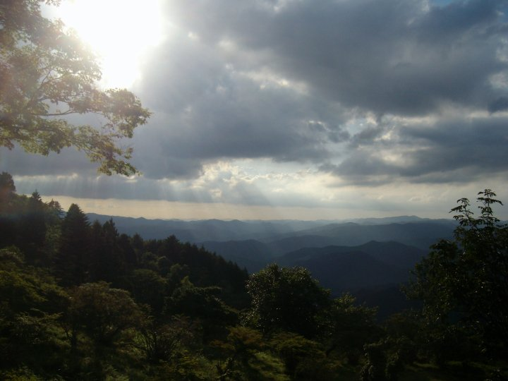 Mountain view, halfway up Mt Hiei