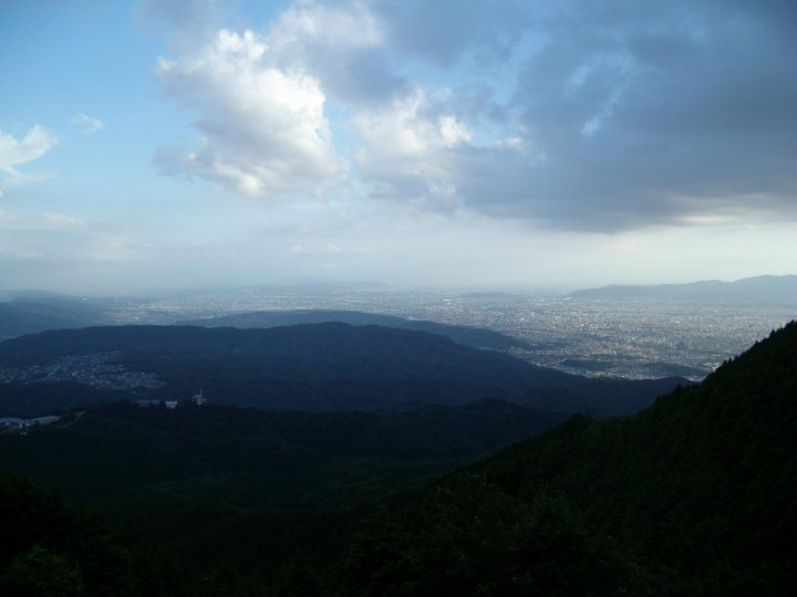 View from Mt Hiei's parking area