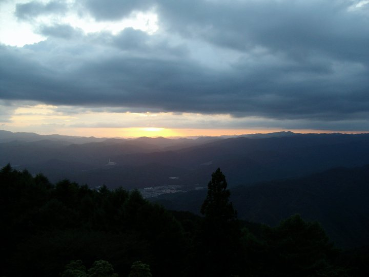 Sunset view from Mt Hiei
