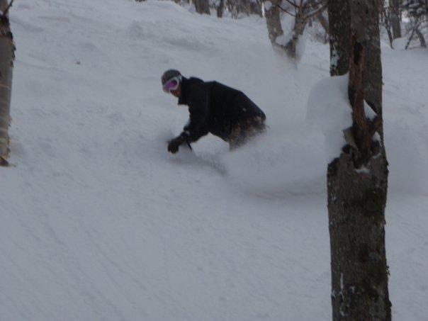 Off-piste skiing in Hokkaido means fresh, deep snow!