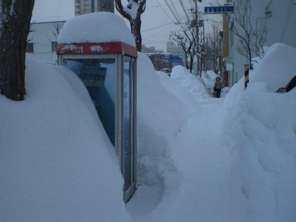 Snowbanks in Sapporo