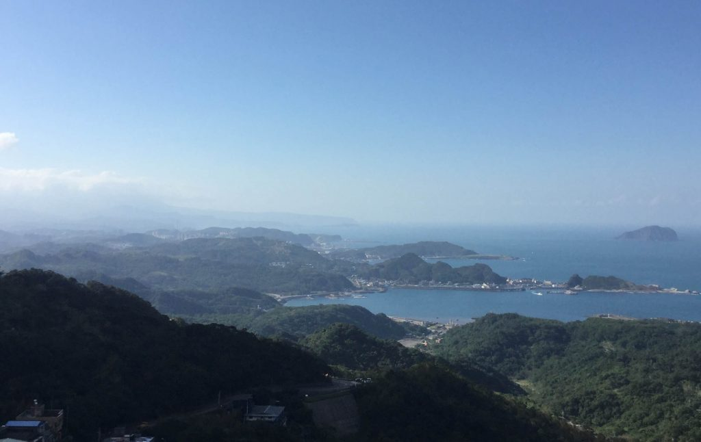 View of the coast from Jiufen