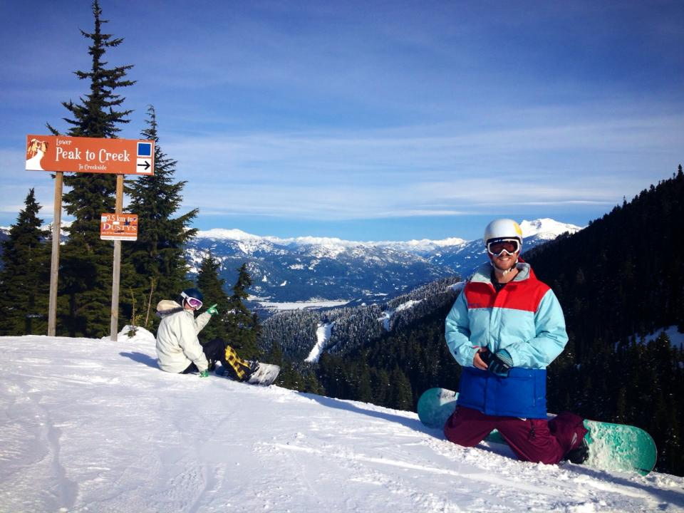 Pausing for a rest at Whistler