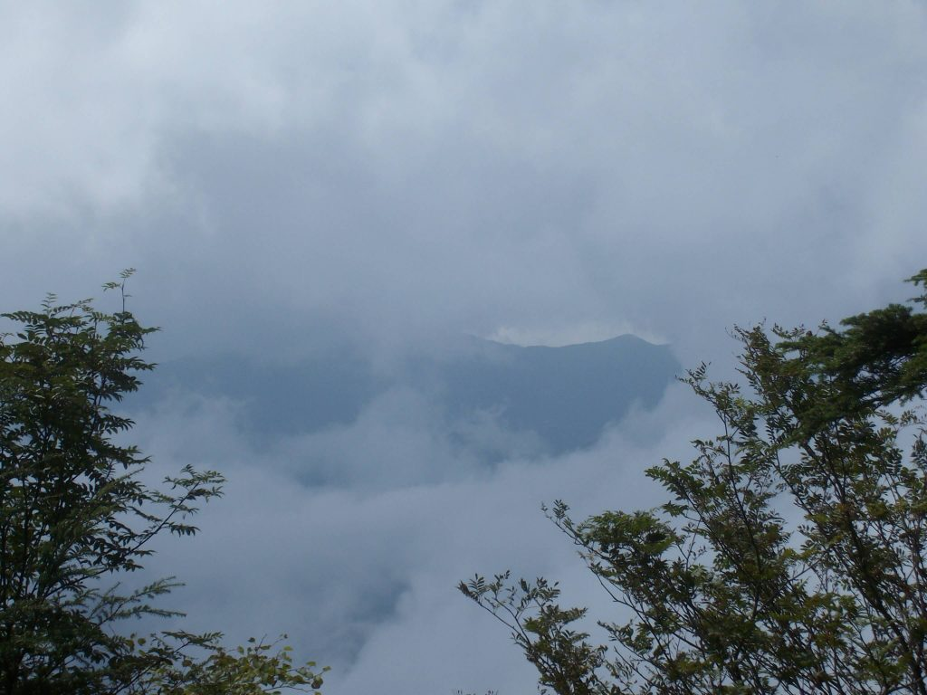 Cloudy conditions on Mt Kumotori