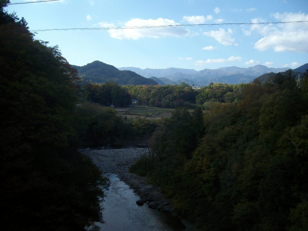 Pretty countryside view of Yamanashi prefecture
