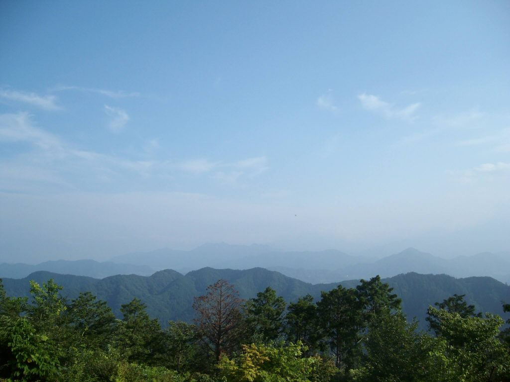 Mountain views from the top of Mt Takao
