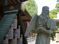 Tengu statue at Yakuo-in temple, Mt Takao
