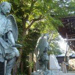 Pair of tengu statues at Yakuo-in temple