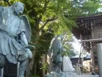 Pair of tengu statues at Yakuo-in temple
