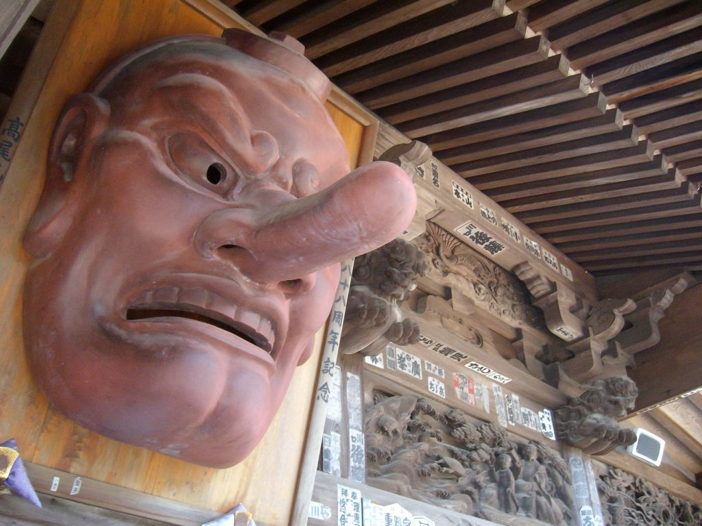 Tengu at Yakuo-in temple, Mt Takao