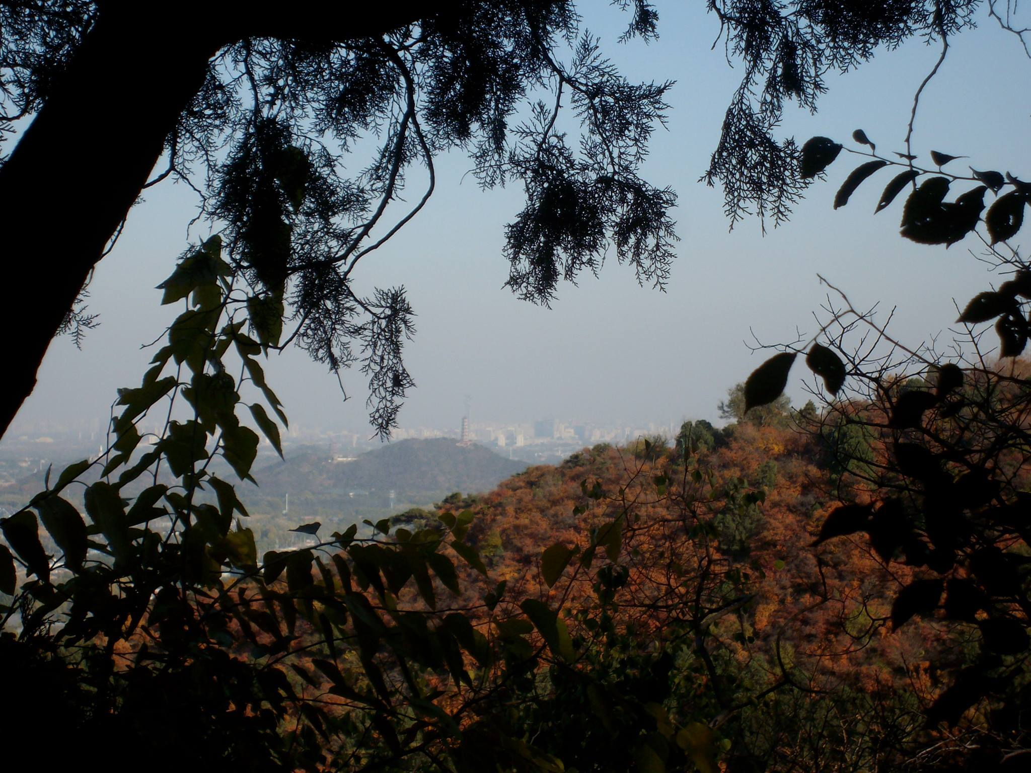 Hiking in Beijing: view towards the Summer Palace from Xiangshan