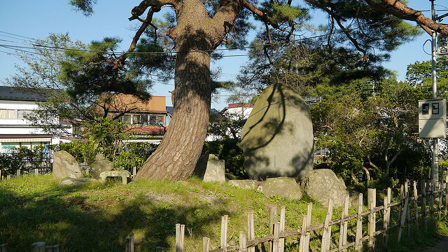 The grave of Benkei in Hiraizumi