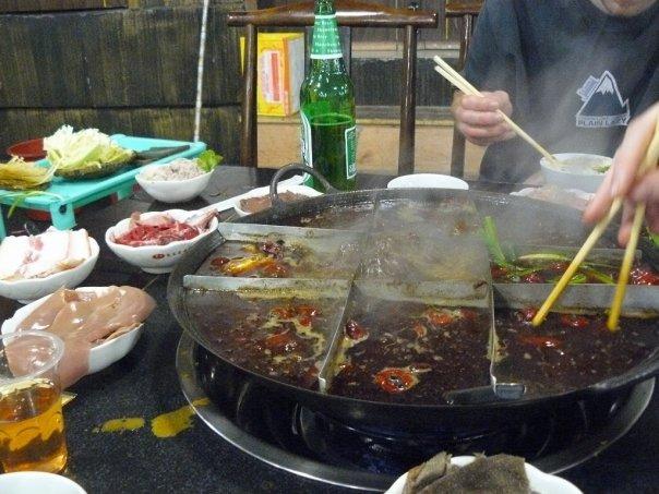 The fiercely hot Chongqing hotpot