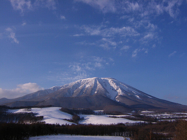 Mt Iwate, snow covered in winter