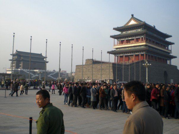 The huge queue for Mao's mausoleum