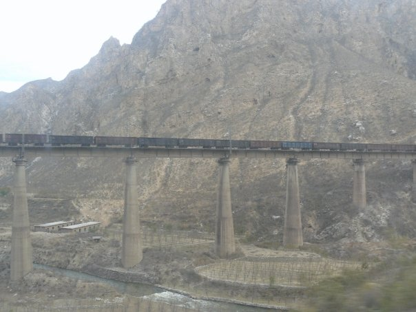 Passing through the Taihang mountains on the Trans-Mongolian