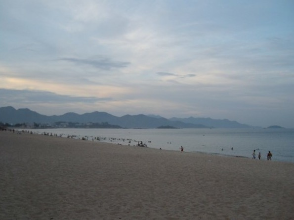 The beach in Nha Trang