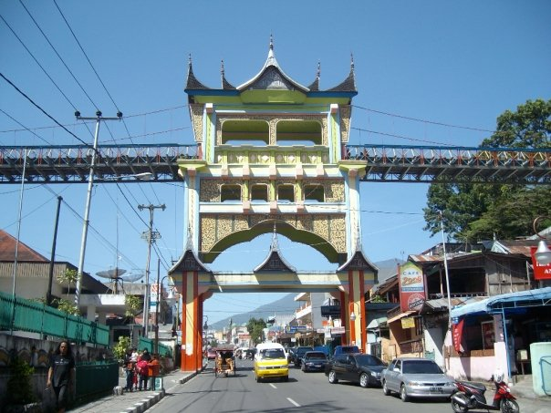 Minangkabau style footbridge in Bukittinggi