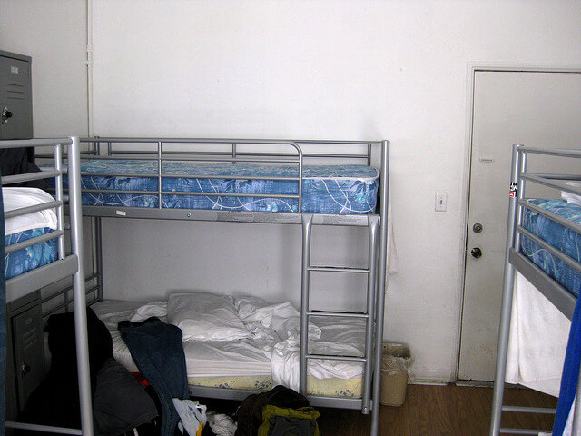 A typical dorm, where so many hostel horror stories take place!