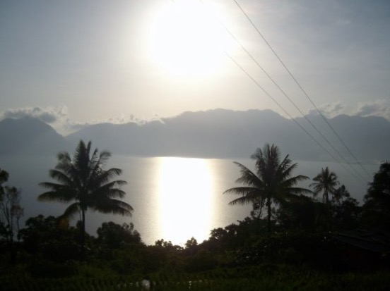 View of Lake Maninjau from the access road