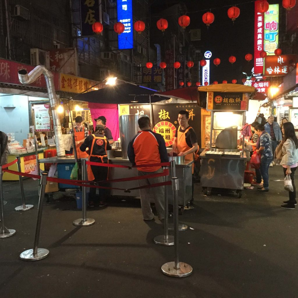 Famous bun stall in Raohe Night Market